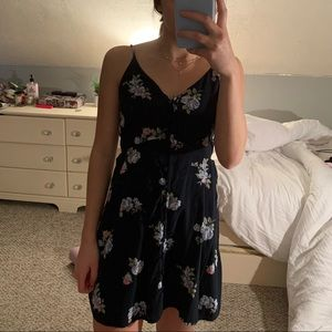 Abercrombie&Fitch Navy Blue Floral Dress
